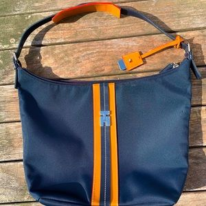Tommy Hilfiger Navy Striped Tote